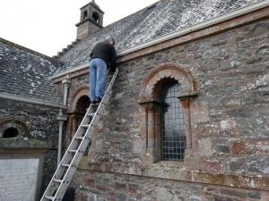 guy on ladder